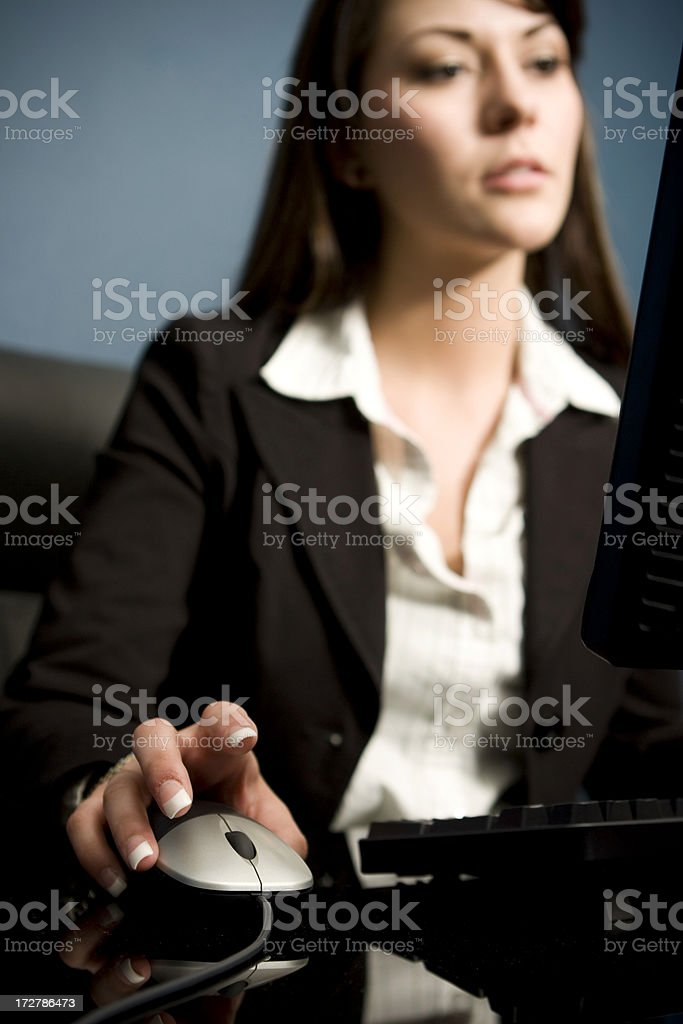 Mouse click away royalty-free stock photo