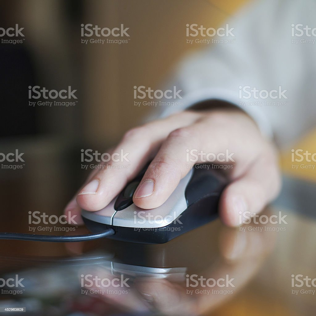mouse click stock photo
