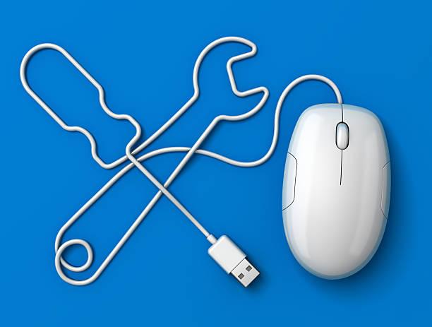 Maus cord-tools symbol blau – Foto