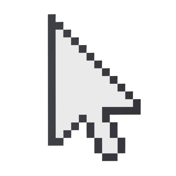 mouse cursor arrow isolated - mouse pointer stock photos and pictures