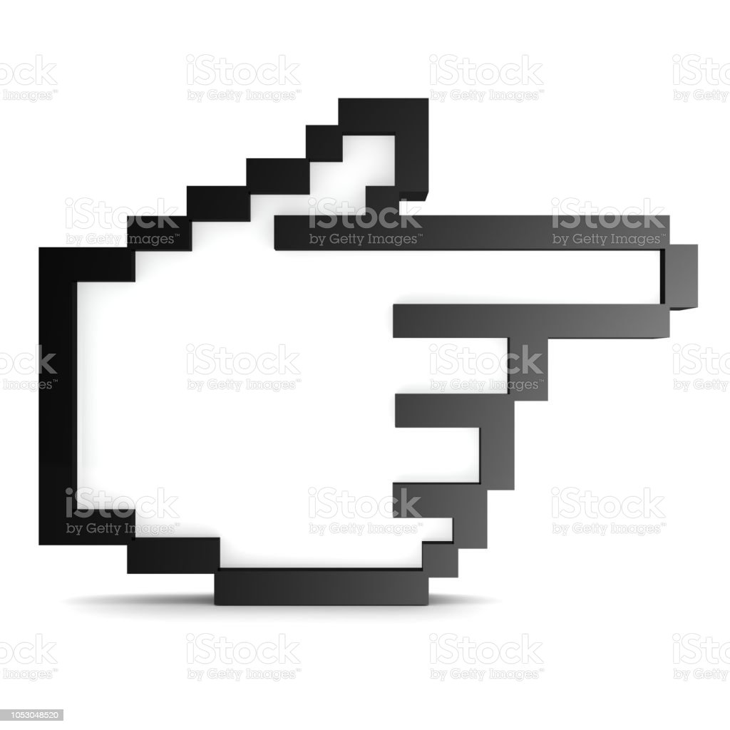 Mouse cursor with white stock photo