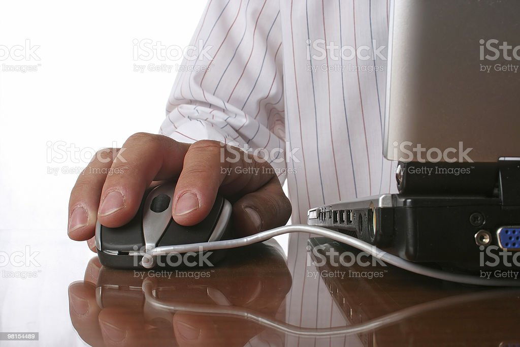Mouse hand royalty-free stock photo