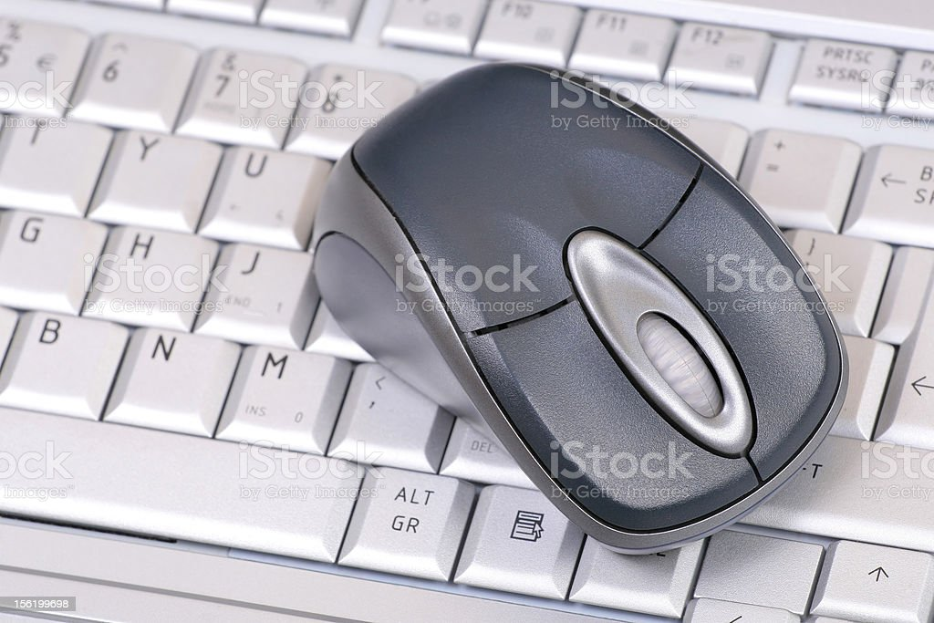 Mouse on keyboard royalty-free stock photo
