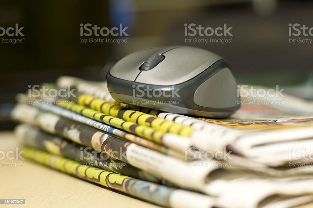 PC mouse stock photo