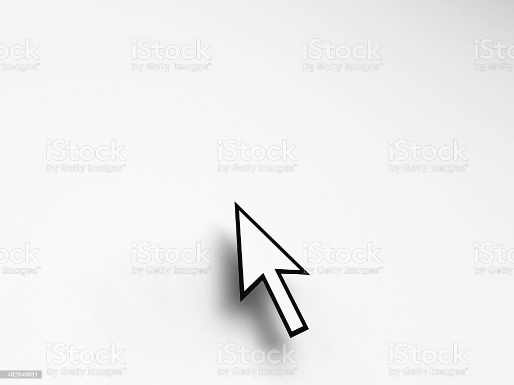 Mouse Pointer On Blank Background Shows Empty Copyspace Website stock photo
