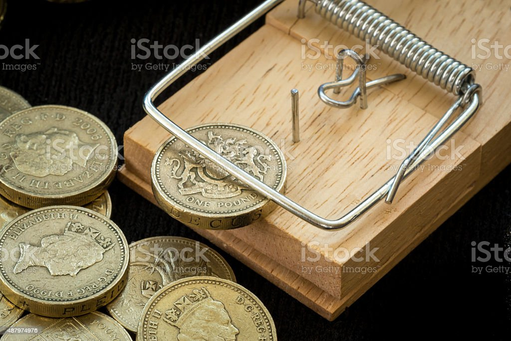 Mouse Trap Catches British Pound Coin Stock Photo Istock Royalty