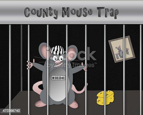 495695633 istock photo Mouse Trap Illustration Concept (Black Background) 472366740