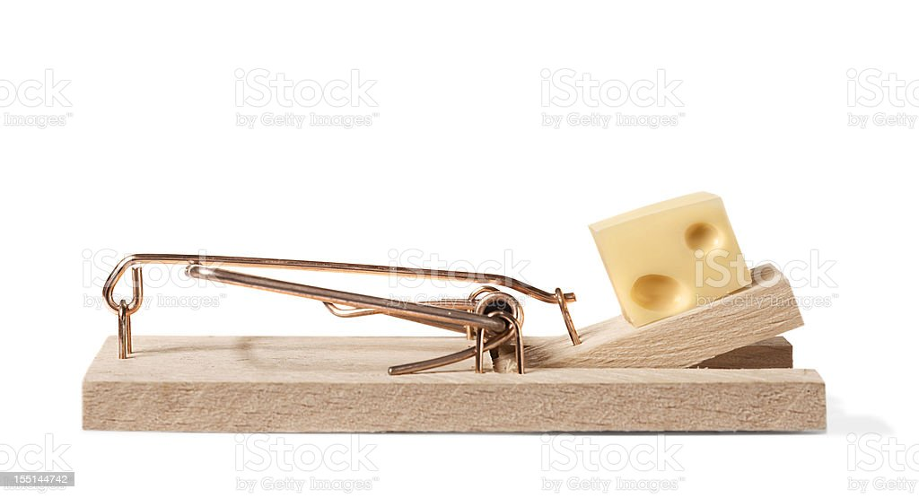 Mouse trap with clipping path stock photo
