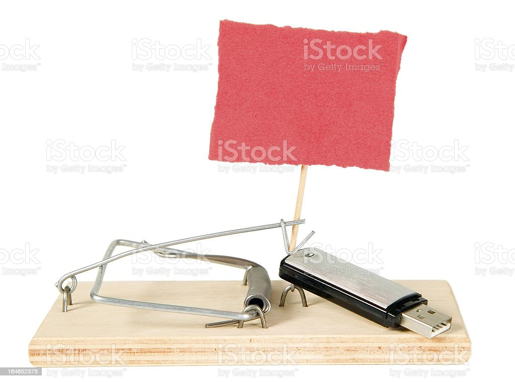 Mouse trap with portable driver royalty-free stock photo