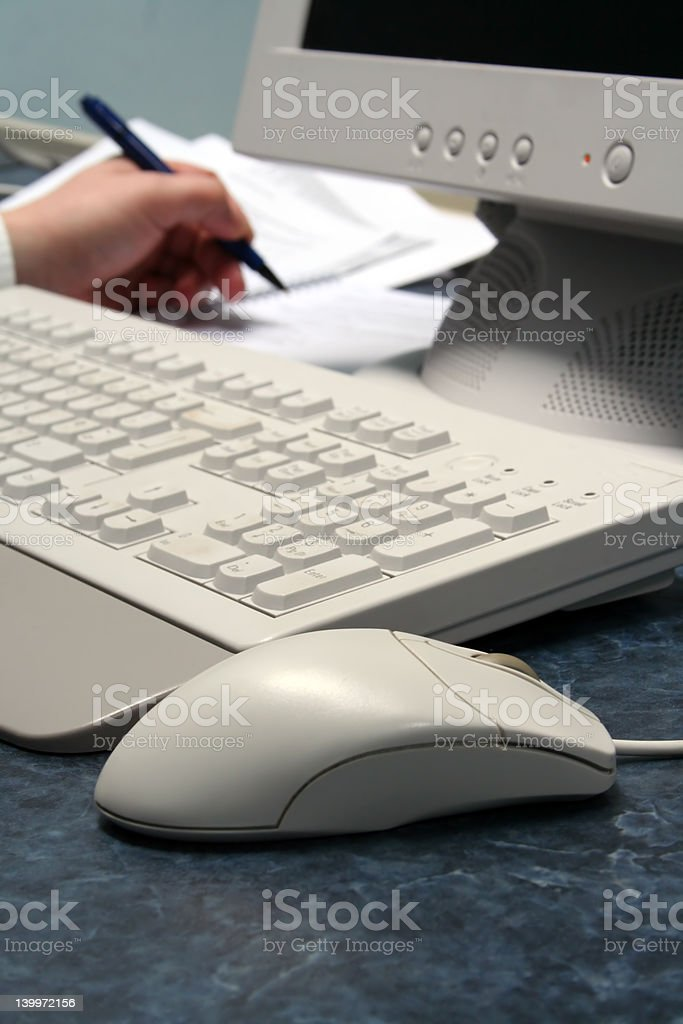 Mouse Writing in Background royalty-free stock photo