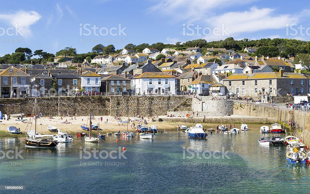 Mousehole Cornwall England UK stock photo
