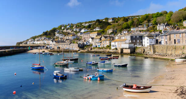 Mousehole Fishing Village Near Penzance in Cornwall, England stock photo