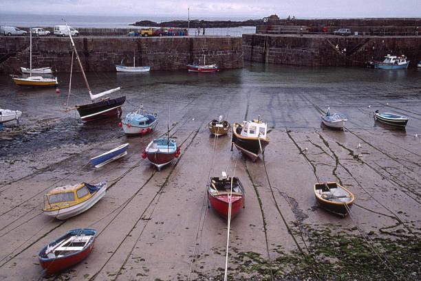 Mousehole Harbour stock photo