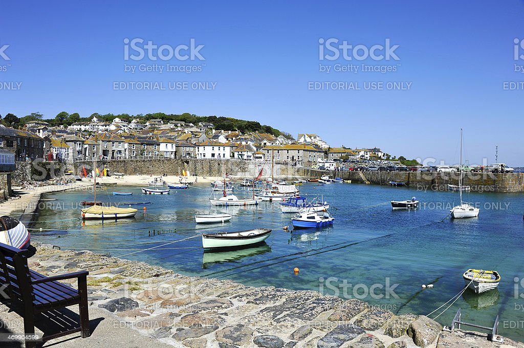 Mousehole in Cornwall, UK stock photo