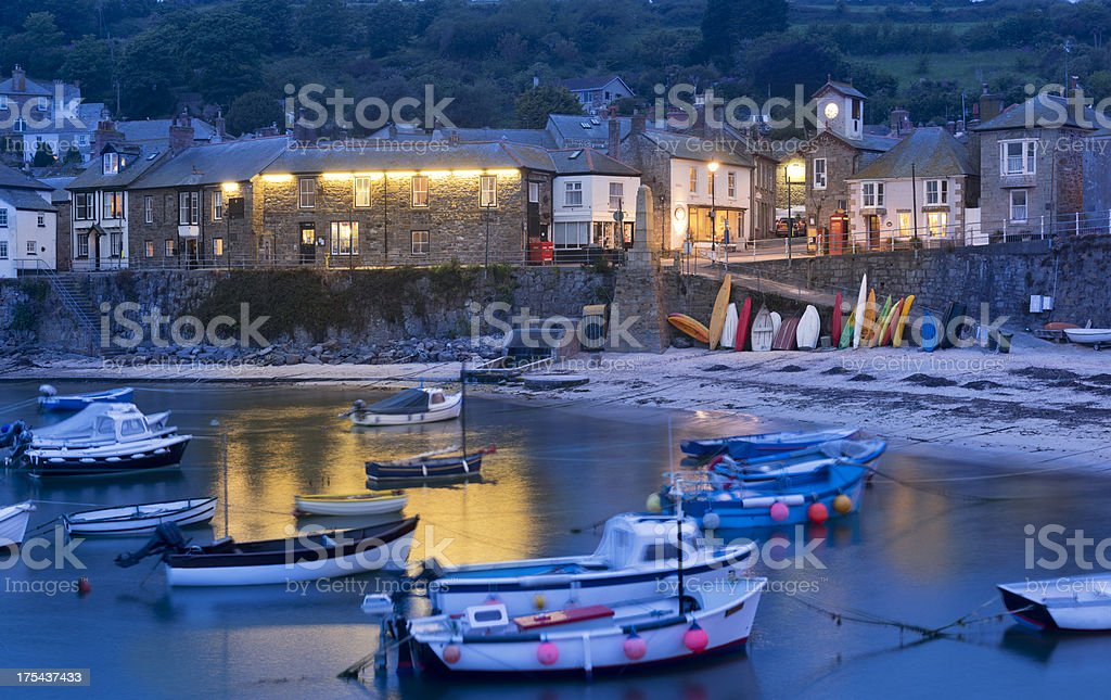 Mousehole Village and Harbour in Cornwall UK stock photo