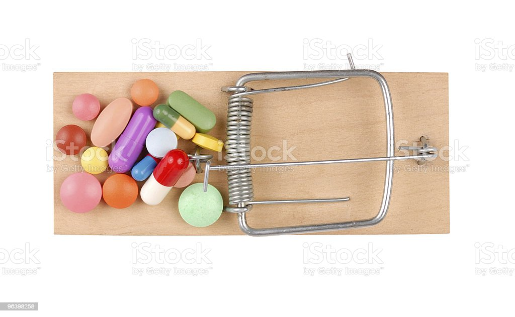 Mousetrap and Pills - Royalty-free Addiction Stock Photo
