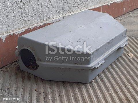 495695633 istock photo mousetrap near a concrete wall 1209322143