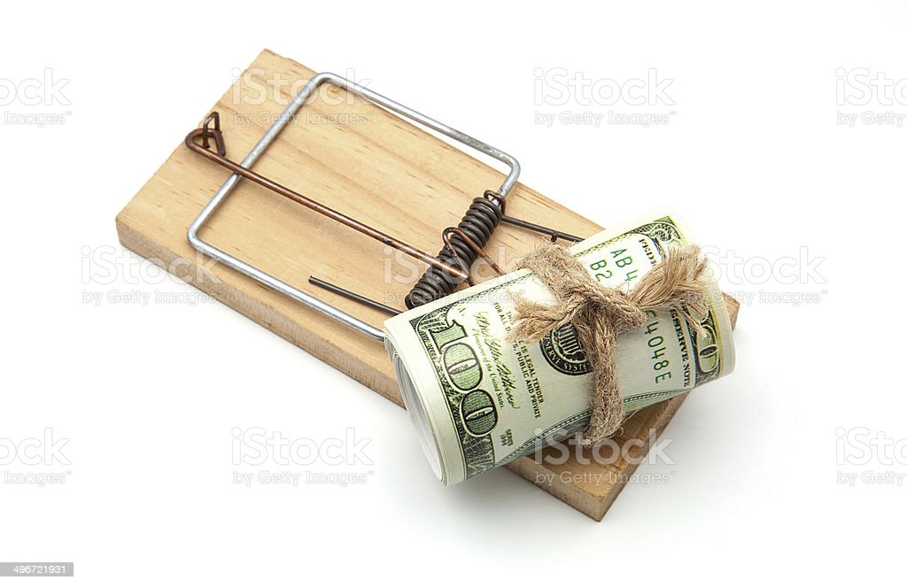 mousetrap stock photo