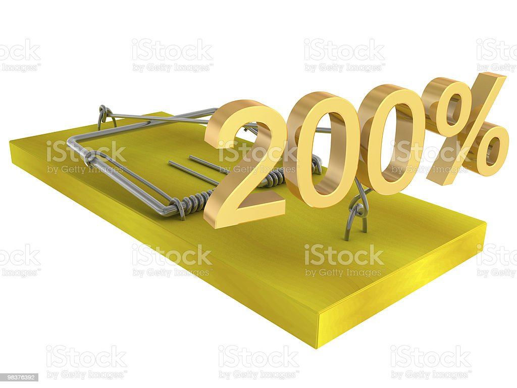 mousetrap with bait royalty-free stock photo