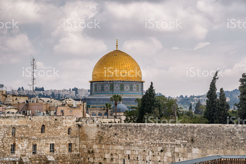 Mousque of Al-aqsa (Dome of the Rock) in Old Town - Jerusalem stock photo