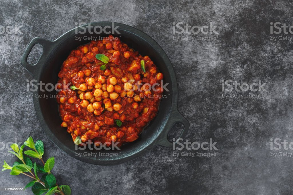 Moussaka Eggplant With Chickpea Maghmour Traditional Lebanese Vegetarian Eggplant Stew Stock Photo Download Image Now Istock