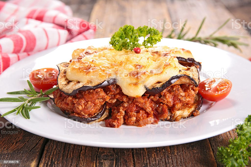 moussaka stock photo