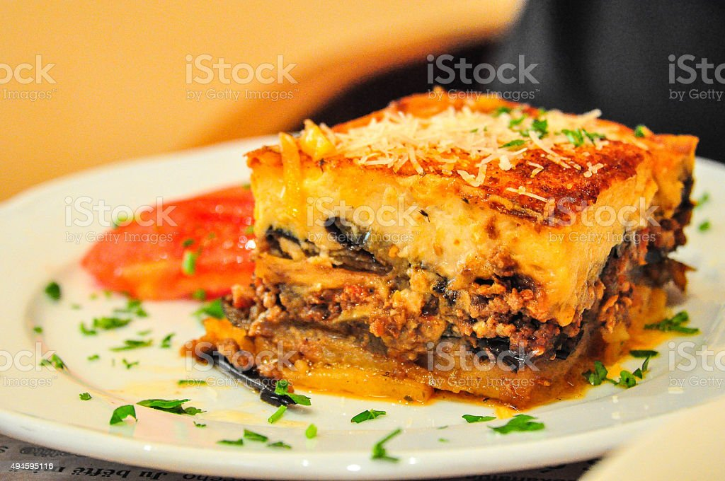 moussaka,Greek Food stock photo