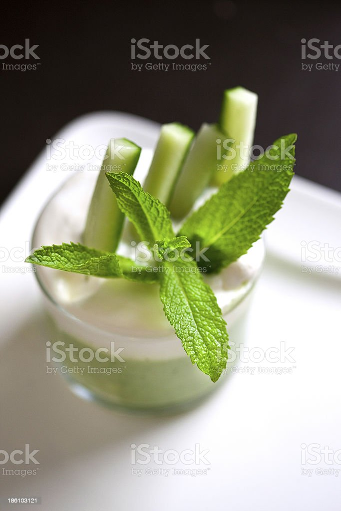 Mousse and cucumber royalty-free stock photo
