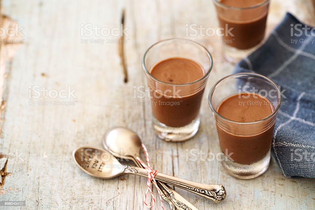 Mousse de Chocolate - foto de acervo