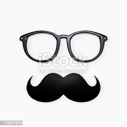 istock moustache and eyeglasses isolated on white 1156437623
