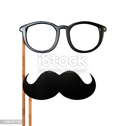 istock moustache isolated on white 1156437733