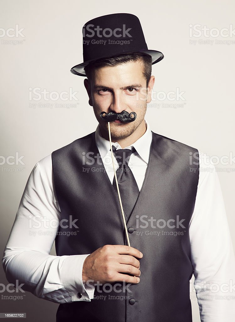 Moustache Man stock photo