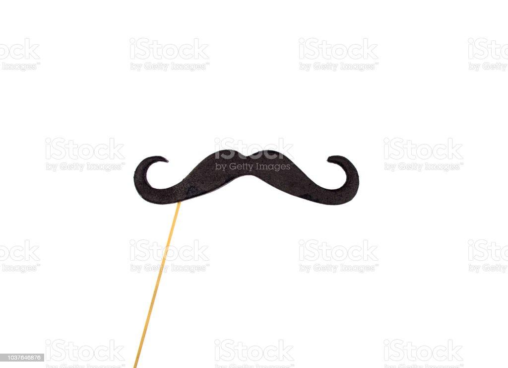 Moustache on a stick stock photo