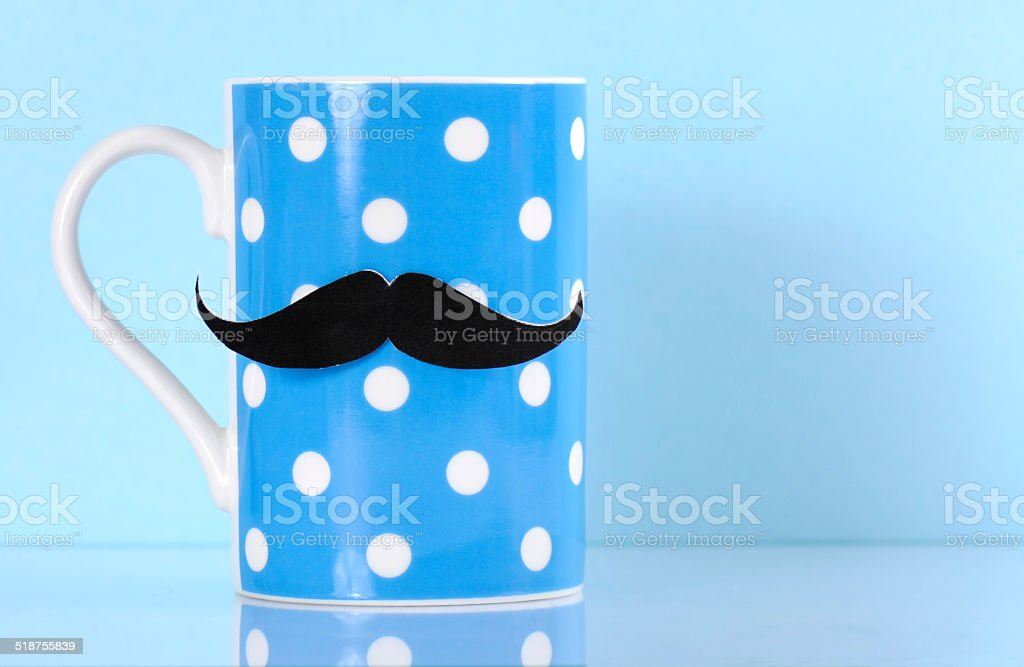 Moustache on cup stock photo