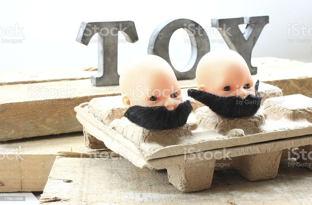 Moustaches in heads royalty-free stock photo