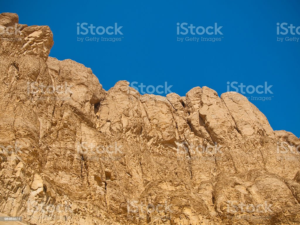 moutain nella parte occidentale del fiume Nilo, Luxor foto stock royalty-free