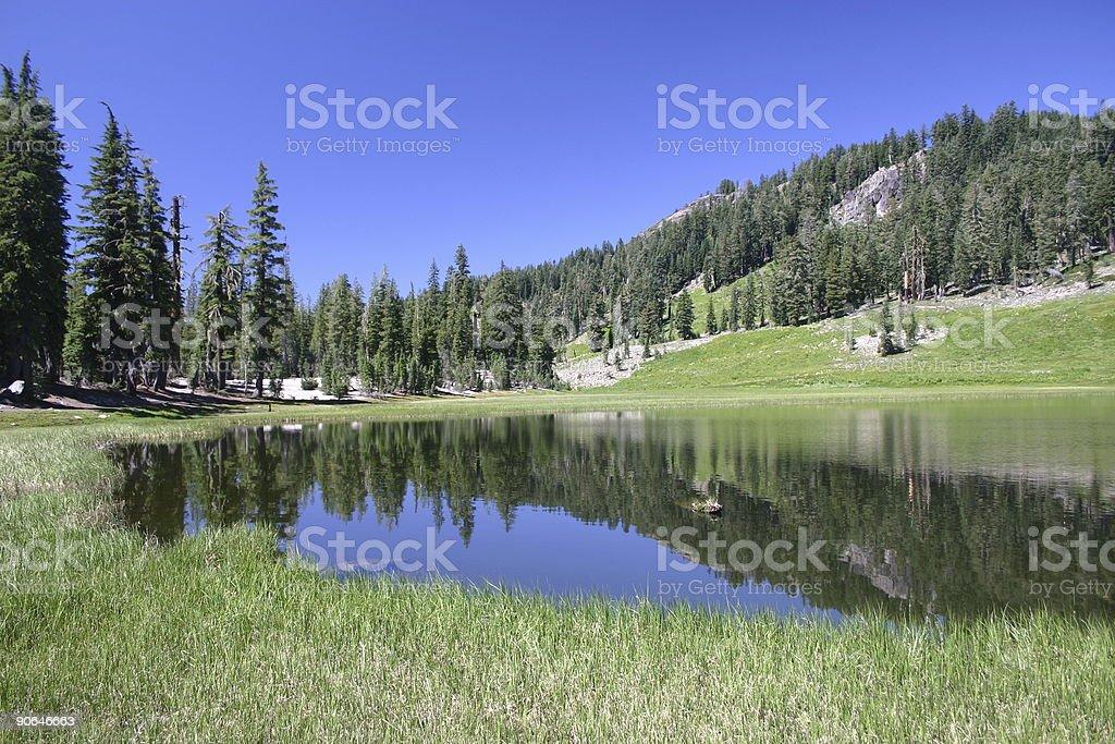 Moutain lake stock photo
