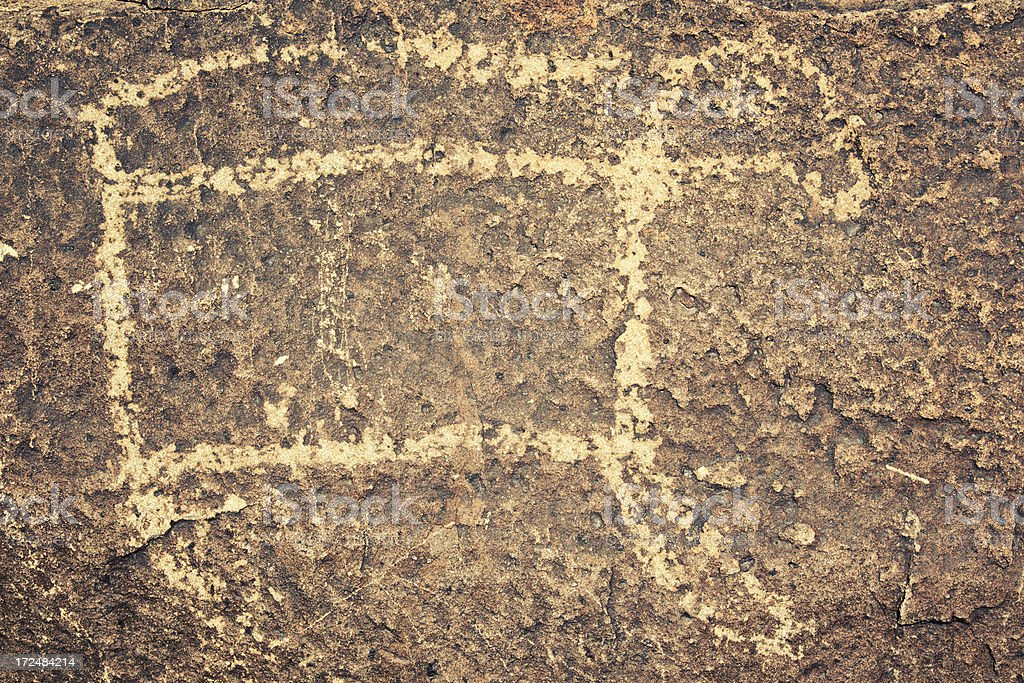Moutain Lion Pictograph - Three Rivers Petroglyph Site royalty-free stock photo