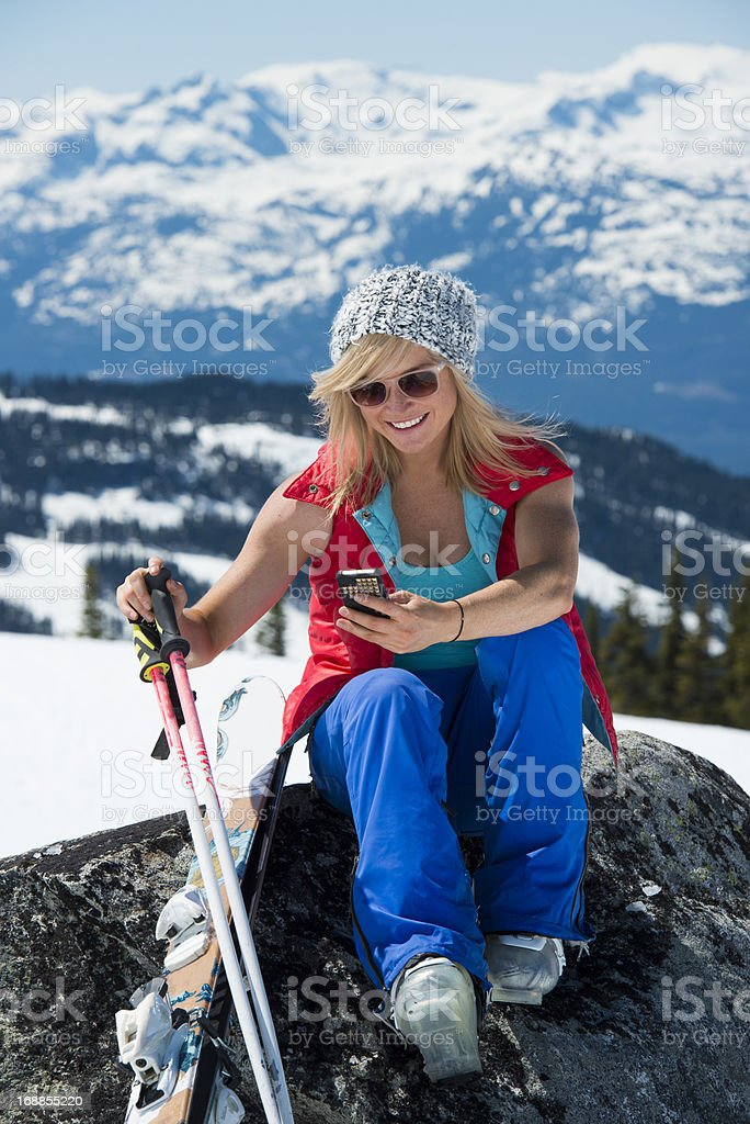 Moutain Text royalty-free stock photo