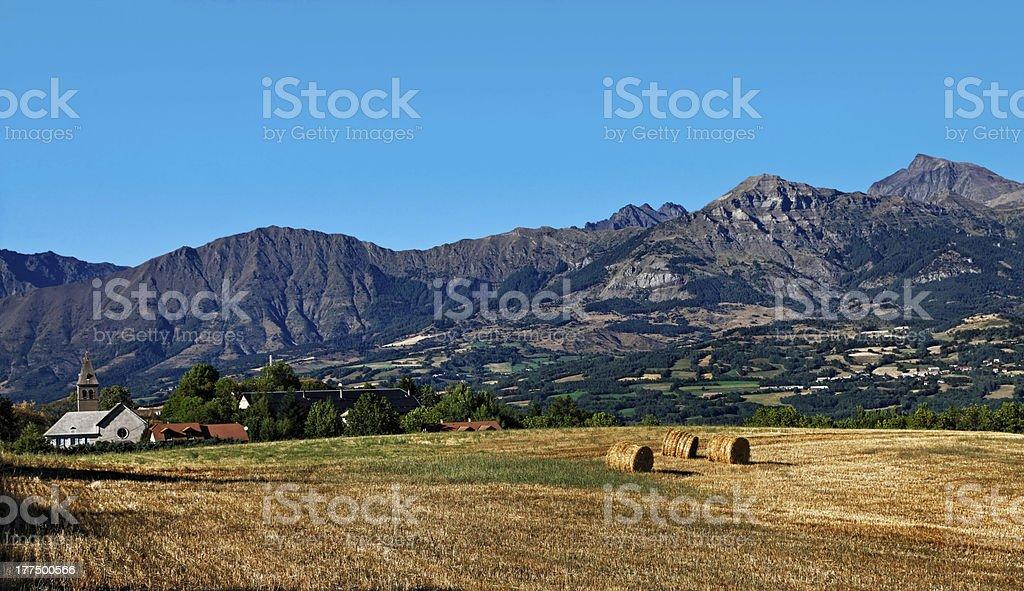 Moutainous Village stock photo