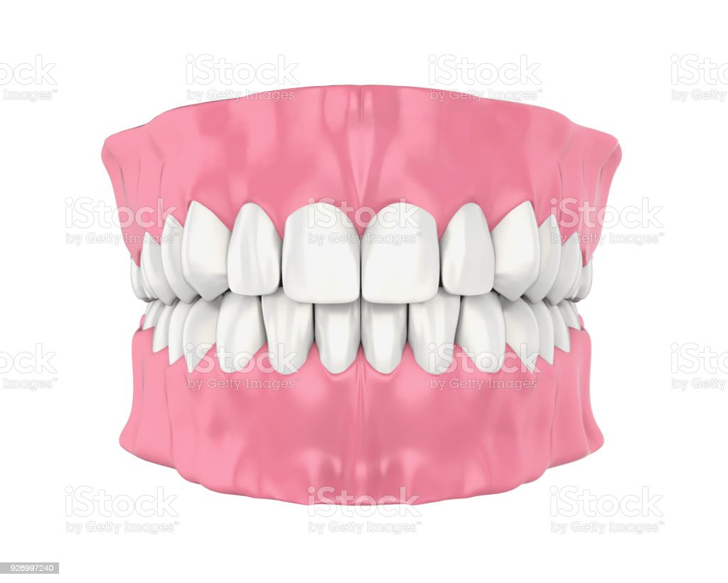 Mouth Gum And Teeth Isolated Stock Photo & More Pictures of Anatomy ...