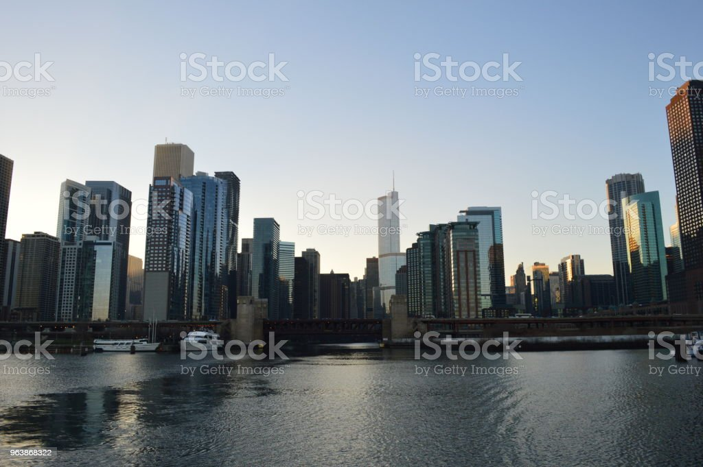 Mouth of the Chicago River - Royalty-free 2015 Stock Photo