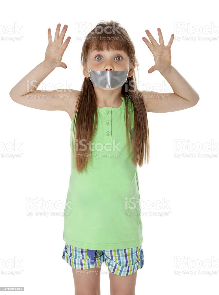 Mouth Taped Closed stock photo