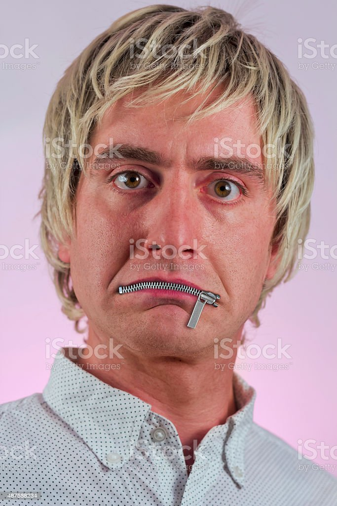 Mouth Zipper stock photo