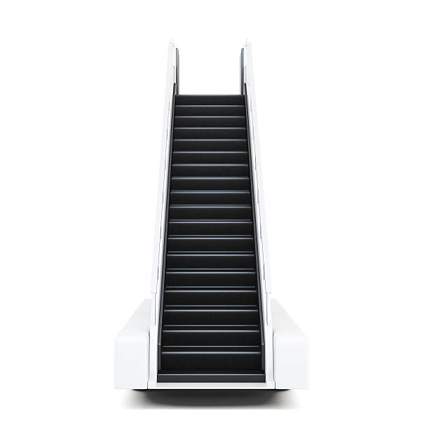 Movable ramp isolated on a white background. 3d illustration stock photo