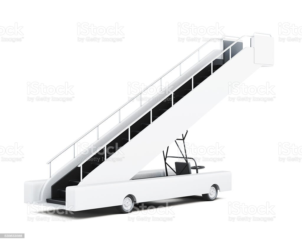 Movable ramp on white background. 3d rendering stock photo