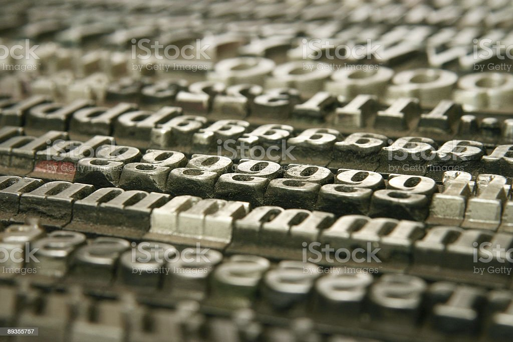 movable type - background royaltyfri bildbanksbilder