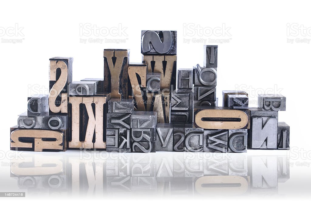 movable type royalty-free stock photo