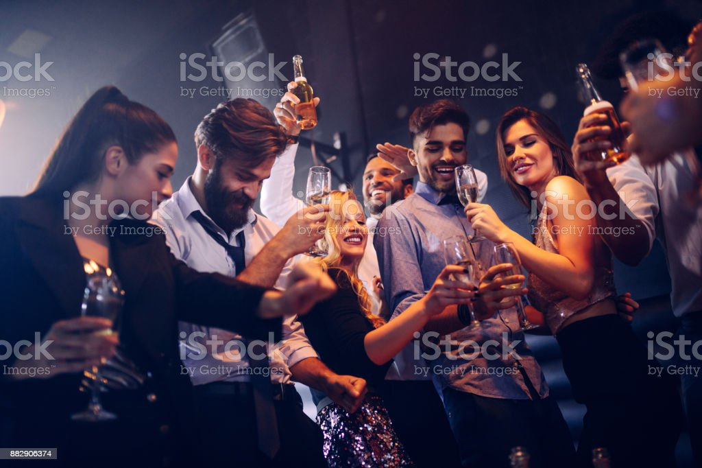 Move you body to the beat ! stock photo