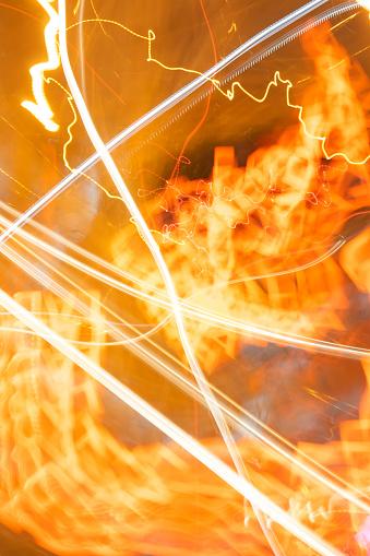824108398 istock photo Movement blur of car light at night. 1079724446
